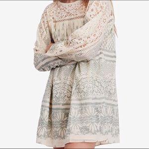 Free People Sun Daze Lace Dress- Size Large NWT